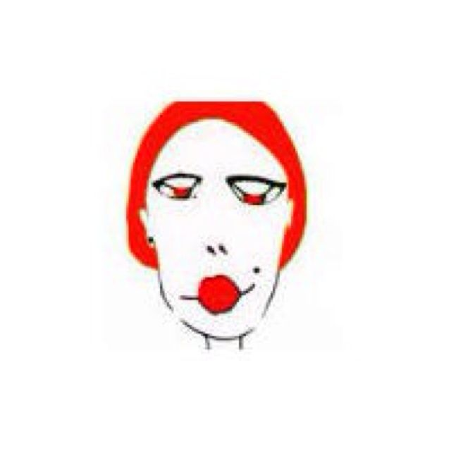 高清黑白红唇手绘头像