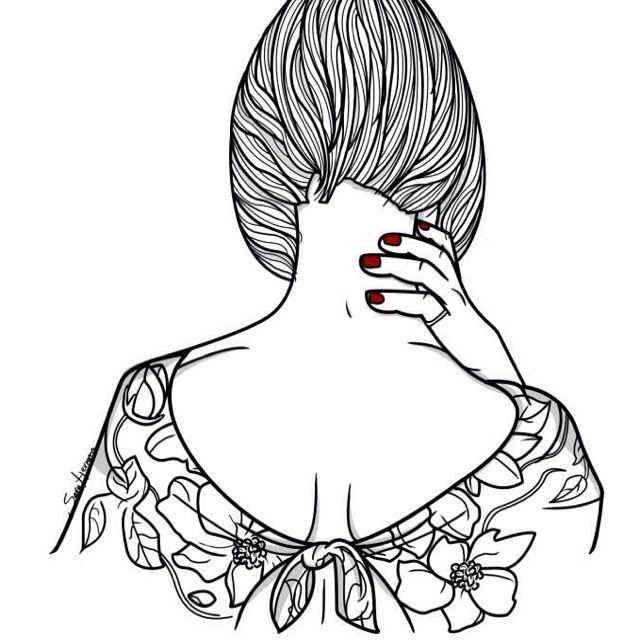 旗袍简笔画设计图