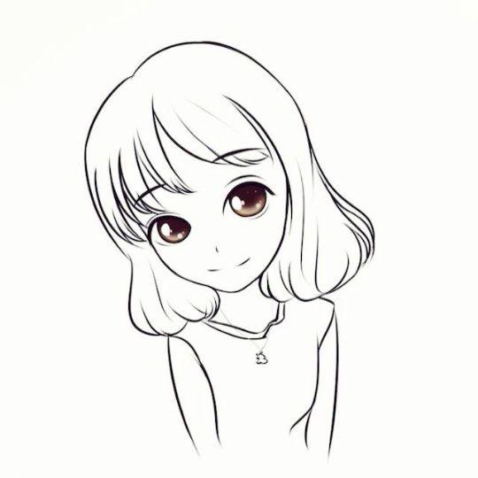动漫 简笔画 卡通 漫画 手绘 头像 线稿 540_540