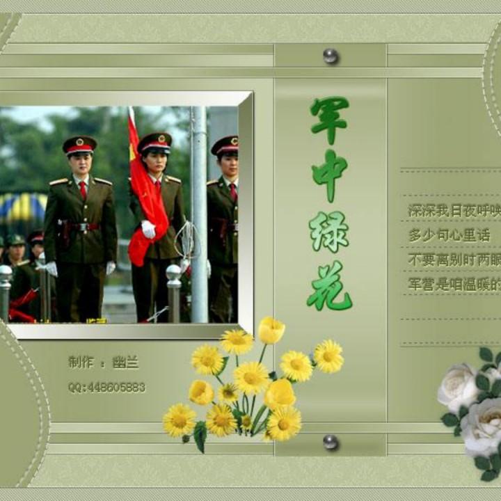 军中绿花 葫芦丝降b伴奏【原版】